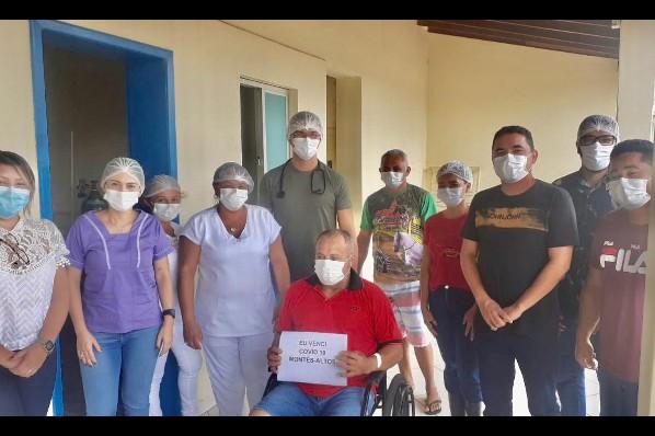 Paciente vence Covid-19 e deixa hospital de Montes Altos