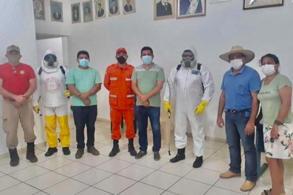 Órgãos públicos de Montes Altos passam por desinfecção para combate à Covid-19