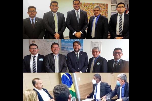 Prefeito Domingos França cumpre agenda em Brasília em busca de recursos para Montes Altos